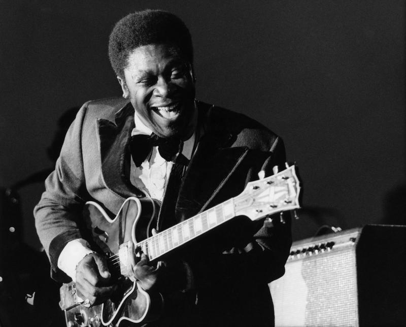 B.B. King performs at the Newport Jazz Festival in July 1972.