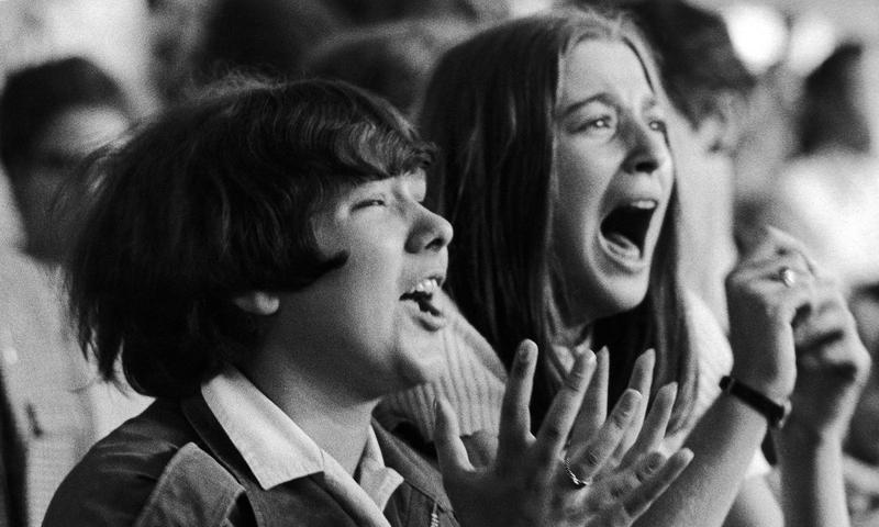 Beatles fans during a concert in Hamburg, Germany in 1964