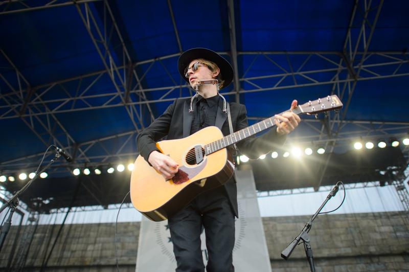 Beck performing at the 2013 Newport Folk Festival in Newport, R.I.
