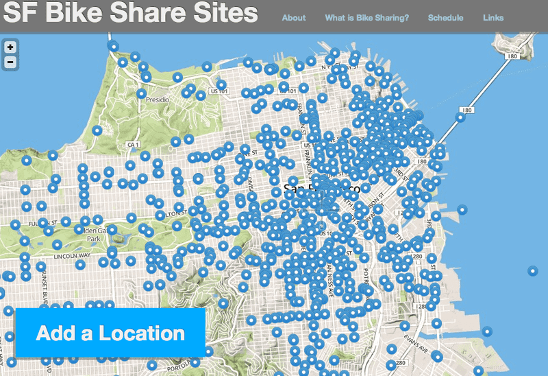 The San Francisco bikeshare crowdsourcing website
