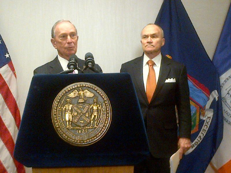 Mayor Michael Bloomberg and Police Commissioner Ray Kelly.