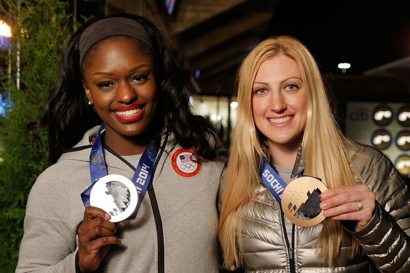 U.S. Olympic bobsledders Aja Evans and Jamie Greubel nabbed a historic bronze in the Sochi Olympics.