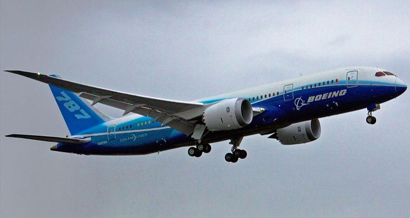 First flight of Boeing 787 Dreamliner on December 15, 2009