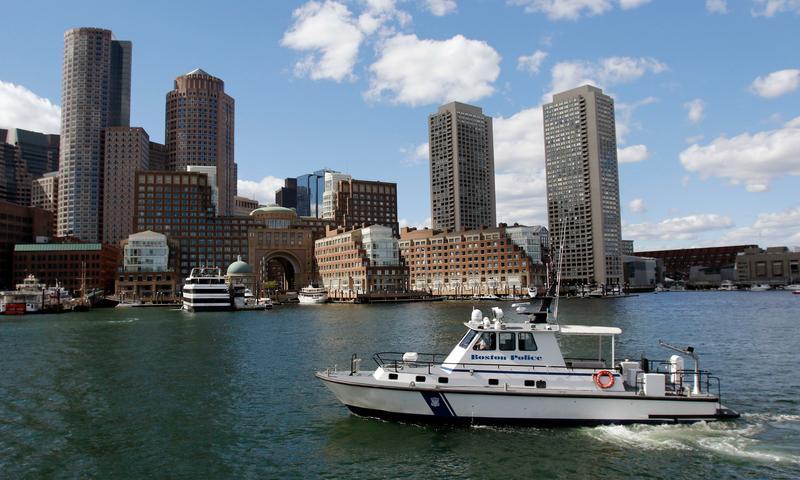 Rowes Wharf in Boston Harbor