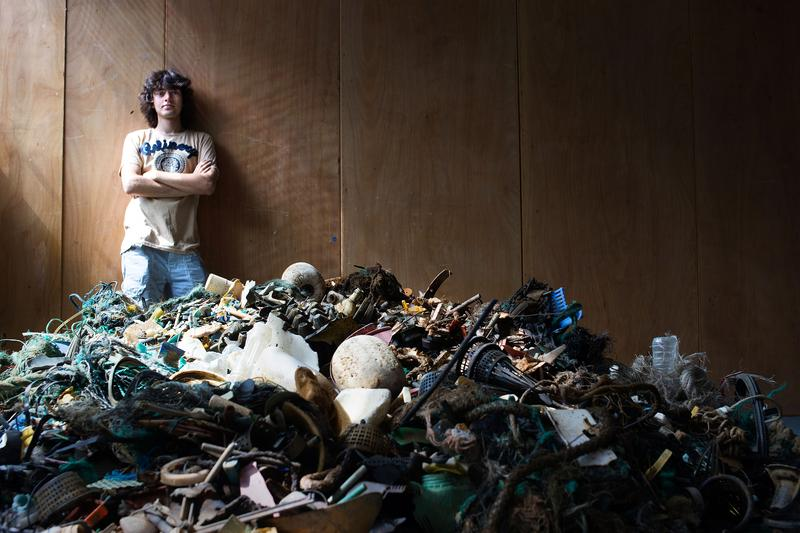 Boyan Slat, the creator of the barrier and CEO and founder of The Ocean Cleanup, a foundation dedicated to developing advanced technologies to rid the oceans of plastic.