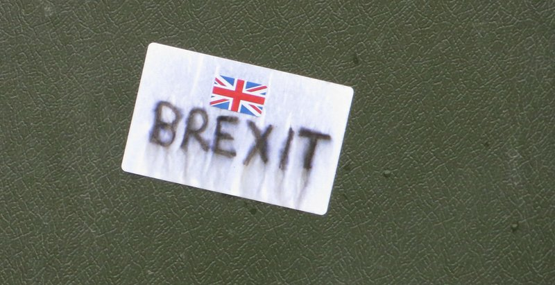 A faded Brexit sticker, October 25, 2015.