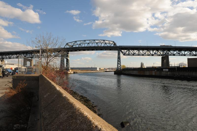 A view of the Kosciuszko Bridge from Queens.