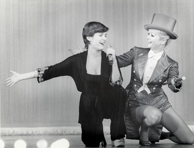 Carrie Fisher and her mother, Debbie Reynolds