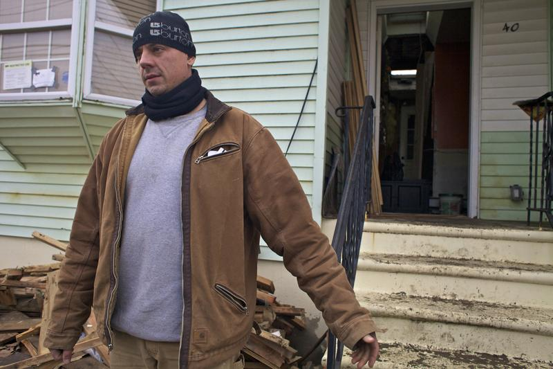 Home owner Martin Dobransky in Broad Channel  just got electricity this week, but not before his pipes froze from the extreme cold earlier this week, adding to his difficulties.