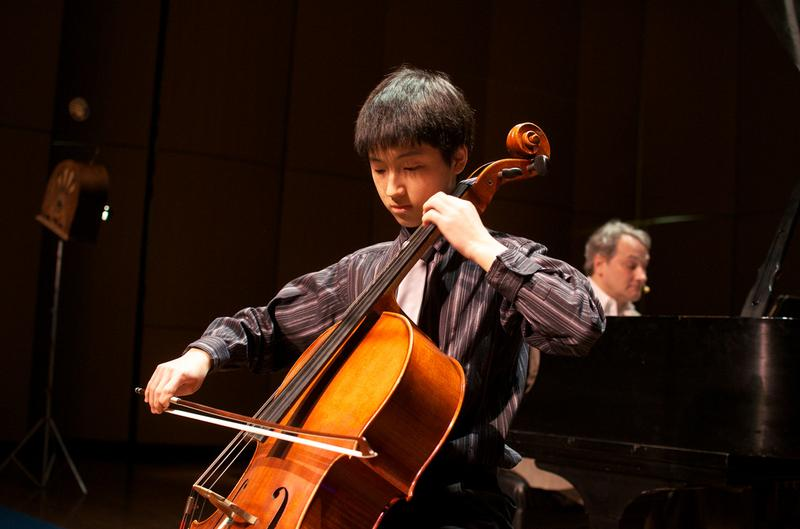 Cellist Bryan Park, 16, from Bloomington, Ind.
