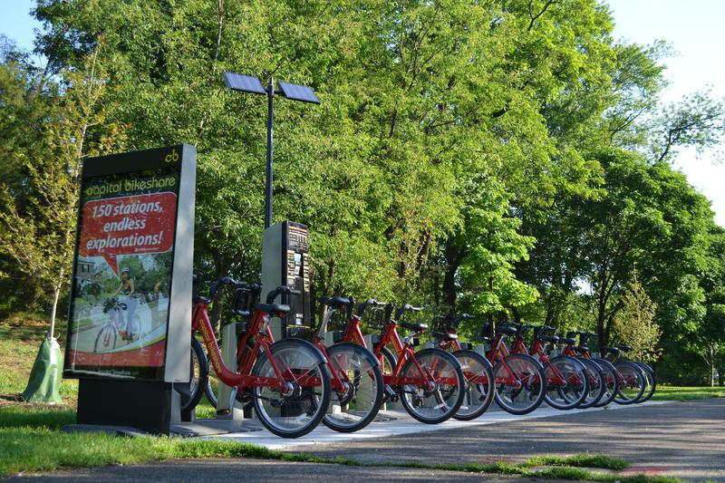 A Capital Bikeshare station in Arlington County, Virginia