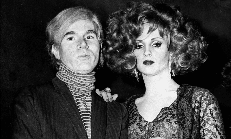 Andy Warhol with Factory superstar Candy Darling in 1969