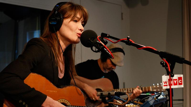Carla Bruni performs in the Soundcheck studio.