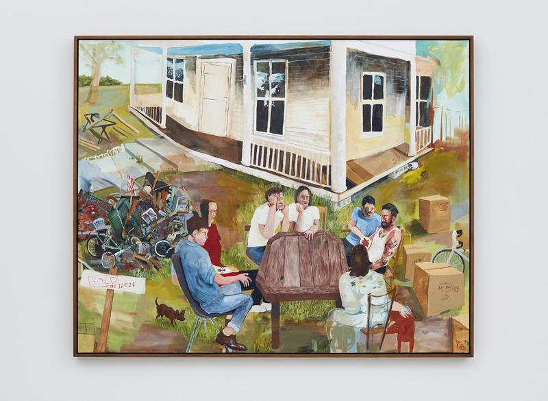 """Figurative painting like Celeste Dupuy-Spencer's """"Closing Party (Hit the North)"""" is prominently featured at this year's Whitney Biennial."""