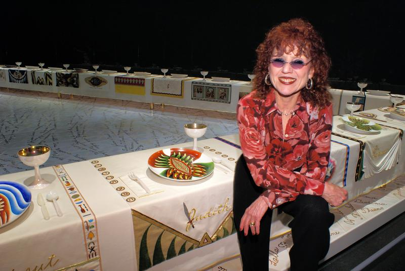 Judy Chicago's The Dinner Party is on view in the Elizabeth A. Sackler Center for Feminist Art at the Brooklyn Museum.