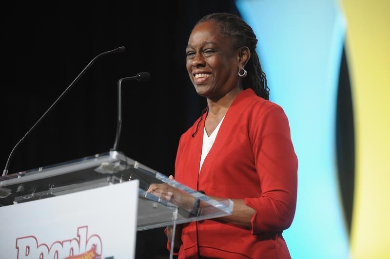 NYC first lady Chirlane McCray speaks on stage at Festival PEOPLE En Espanol 2015 presented by Verizon at Jacob Javitz Center on October 17, 2015 in New York City.