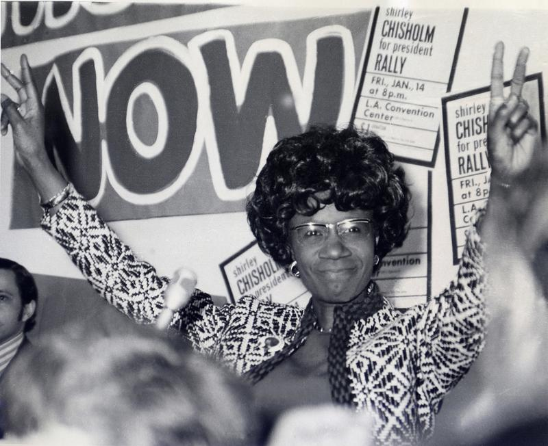 Congreesswoman Shirley Chisholm, a Brooklyn Democrat, during her 1972 campaign for president.