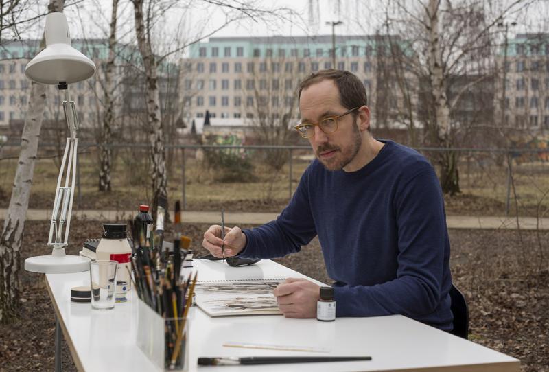 "German artist Christoph Niemann in ""Abstract: The Art of Design."""