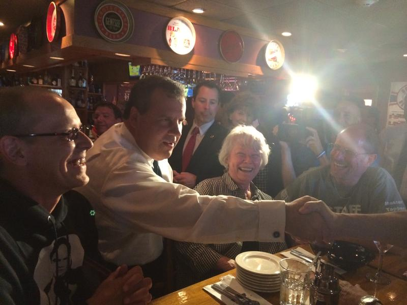 Chris Christie on the campaign trail in Manchester, NH