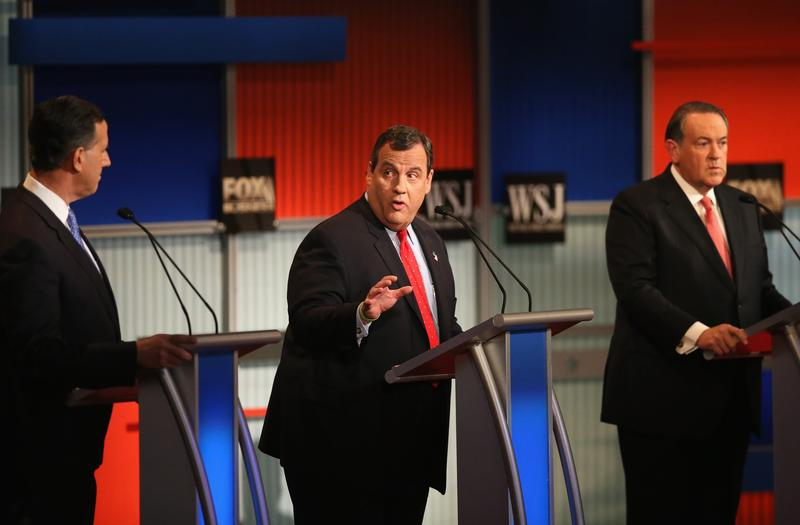 Gov. Chris Christie appeared in the first of two GOP presidential debates on November 10.