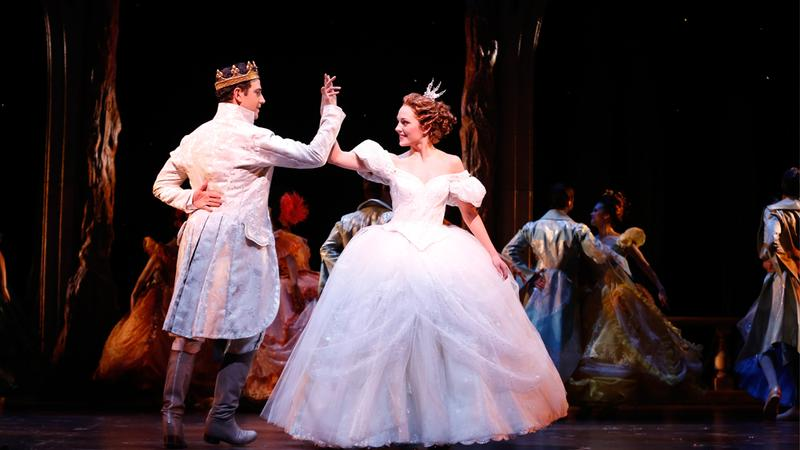 Santino Fontana and Laura Osnes in Cinderella.