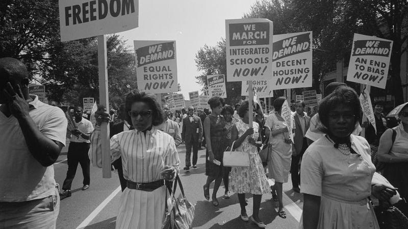 A procession during the march on Washington in 1963.