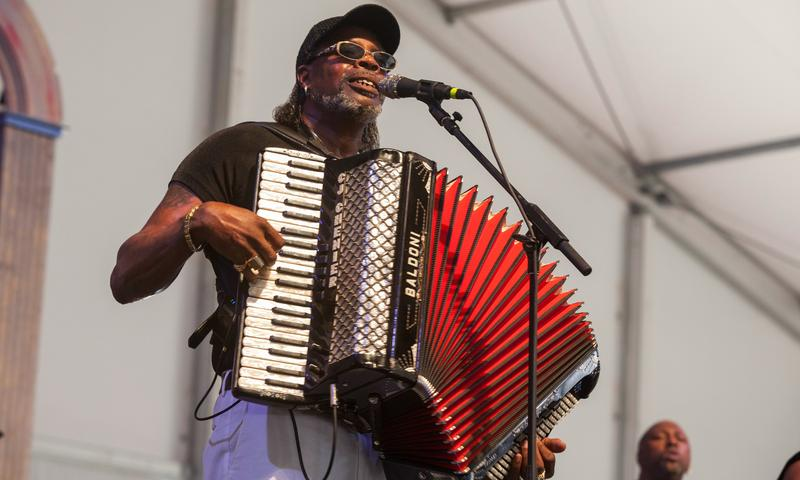 C.J. Chenier, son of Clifton, performs at the New Orleans Jazz & Heritage Festival in 2015