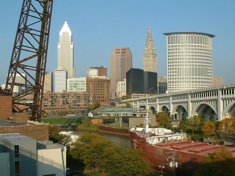 View of Downtown Cleveland Skyline, taken from the Superior Viaduct