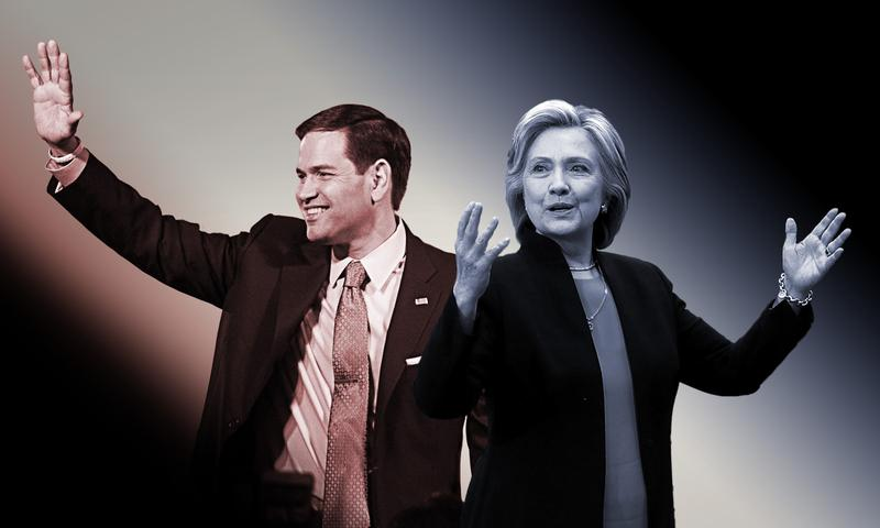 Democrat Hillary Clinton and Republican Marco Rubio both kicked off their campaigns with calls to end inequality.