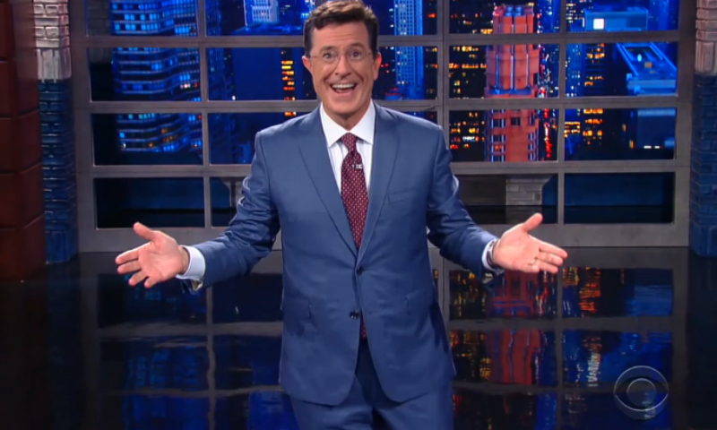 "As host of ""The Late Show,"" Stephen Colbert wears spiffier suits"
