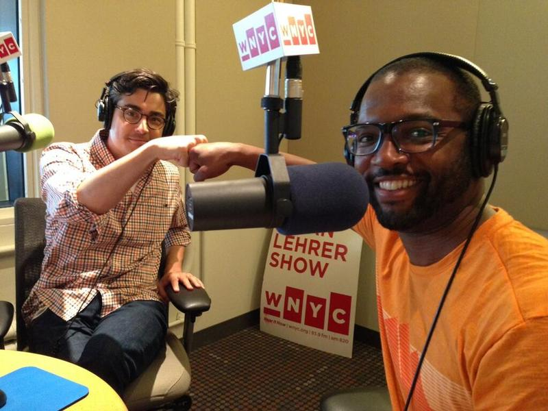 "Tanner Colby, author of ""Some of My Best Friends Are Black"" and Baratunde Thurston, author of ""How to Be Black"" in the WNYC studios."