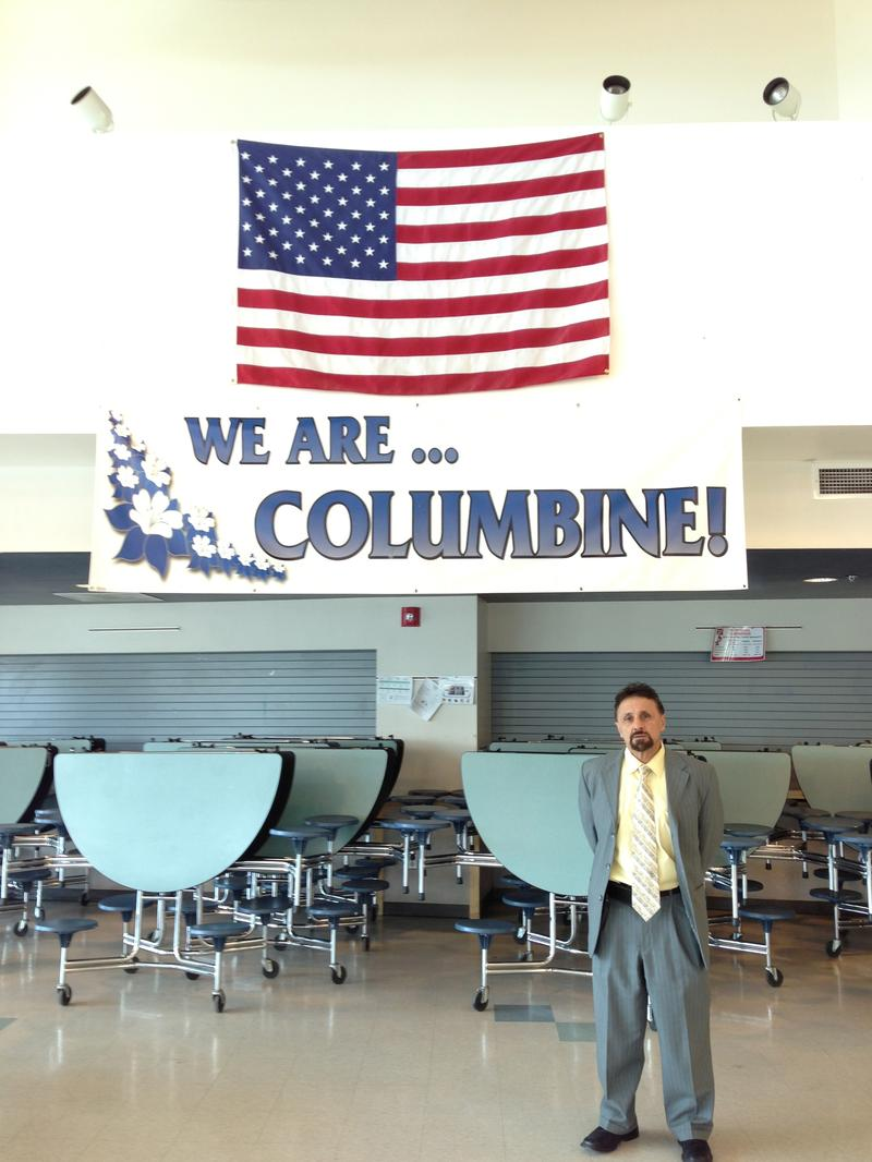 Columbine High School principal Frank DeAngelis in the school's cafeteria