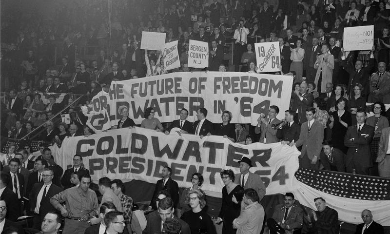 A rally of Young Americans for Freedom at Madison Square Garden in New York, 1962