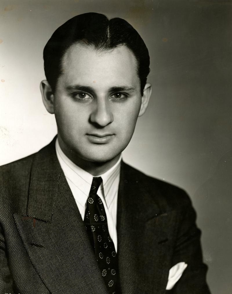 Ted Cott, already a seasoned radio producer and director, at the age of 23 in September, 1940.
