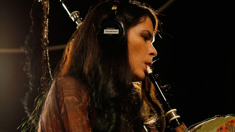 Cristina Pato performs in the Soundcheck studio.