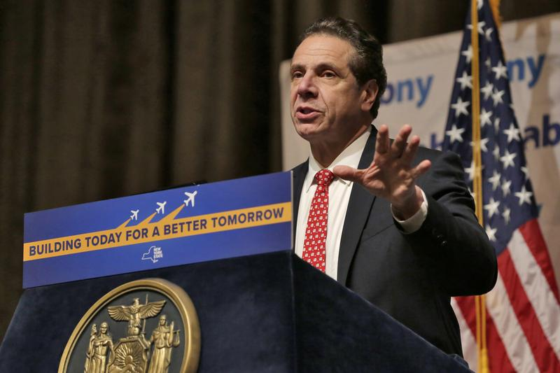 New York Gov. Andrew Cuomo makes an announcement about improvements to JFK International Airport last week. He's expected to further discuss infrastructure during his State of the State speech tour.