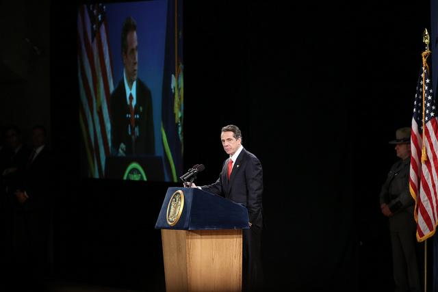 Cuomo delivering his 2013 State of the State.