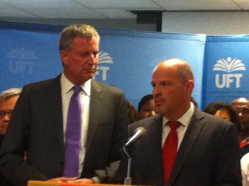 UFT President Michael Mulgrew Endorses Bill de Blasio for Mayor