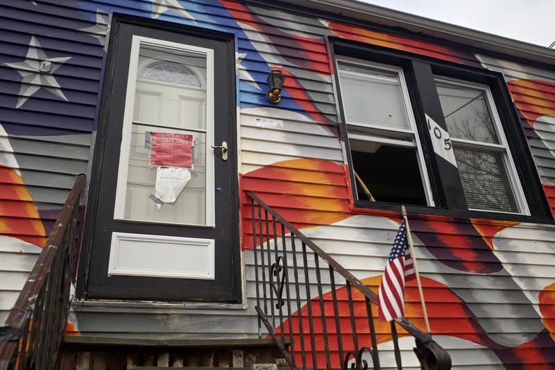 An uninhabitable home on Cedar Grove Avenue in Staten Island, three months after Sandy.