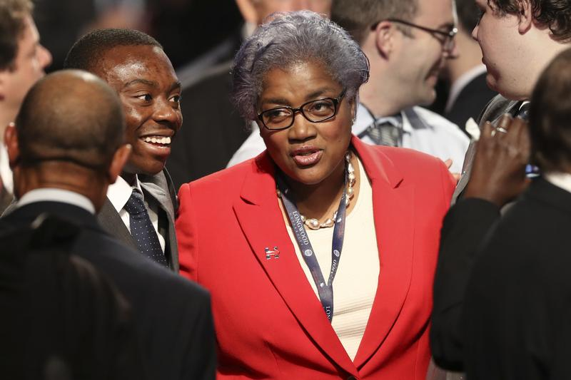Donna Brazile at the vice presidential debate on October 4.
