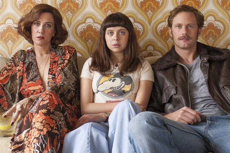 """Kristen Wiig, Bel Powley, and Alexander Skarsgård in """"Diary of a Teenage Girl."""""""
