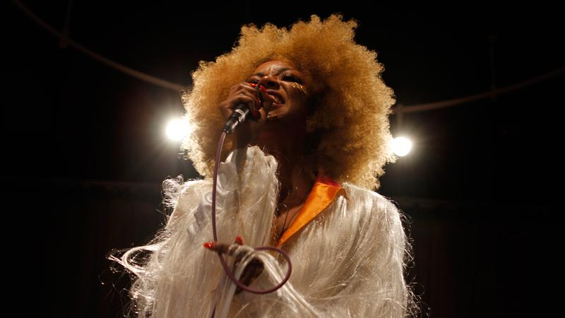 Ebony Bones performs in the Soundcheck studio.