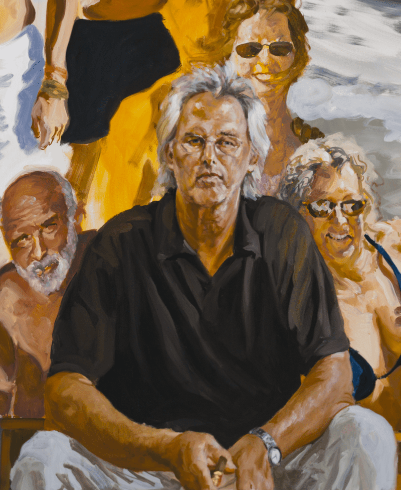 Detail of <em>Self Portrait: An Unfinished Work</em> by Eric Fischl