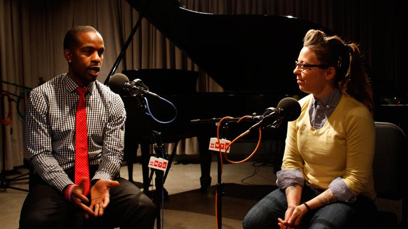 Professional football player Wade Davis talks with musician Erin McKeown about sports and music for Players On Players.