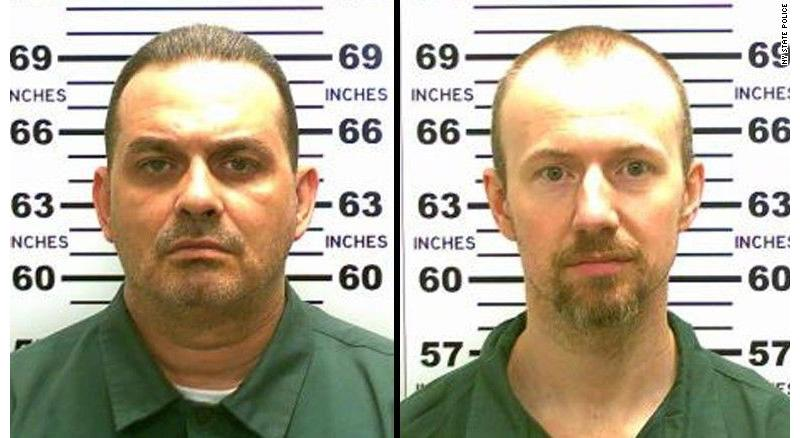 The two convicted murdered who escaped the Clinton Correctional Facility, Richard Matt and David Sweat.
