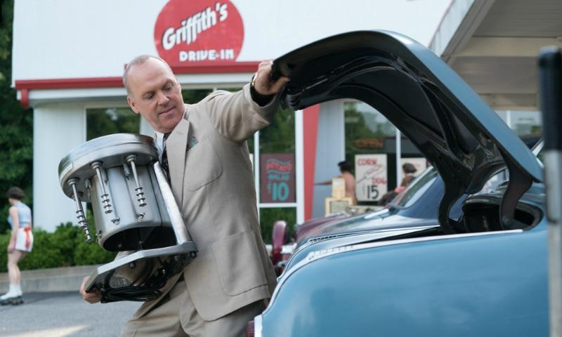 "Michael Keaton in ""The Founder"" portraying Ray Kroc when he was a milkshake mixer salesman"