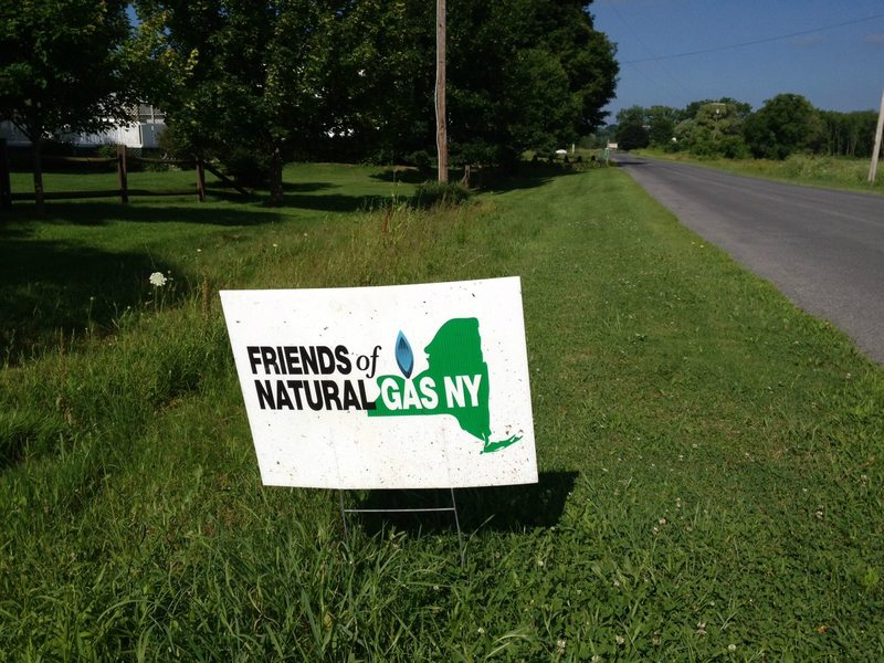 A pro-fracking sign near the town of Ulysses in upstate New York.