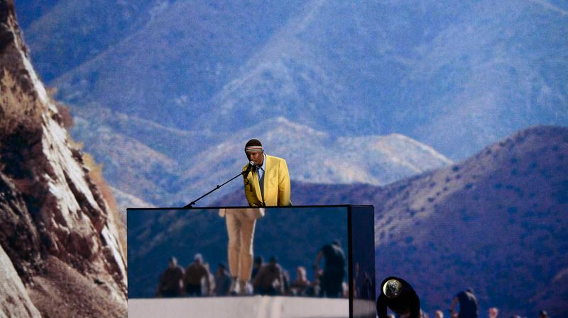 Frank Ocean performing at the 55th Annual Grammy Awards.