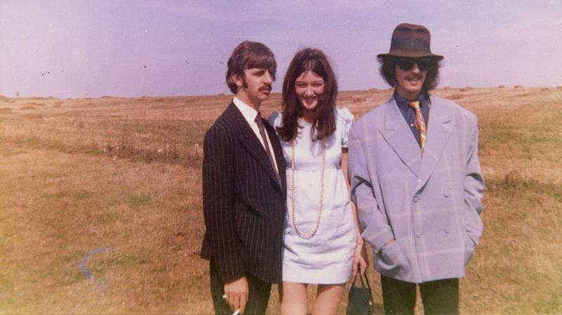 Ringo Starr, Freda Kelly, and George Harrison in 1967