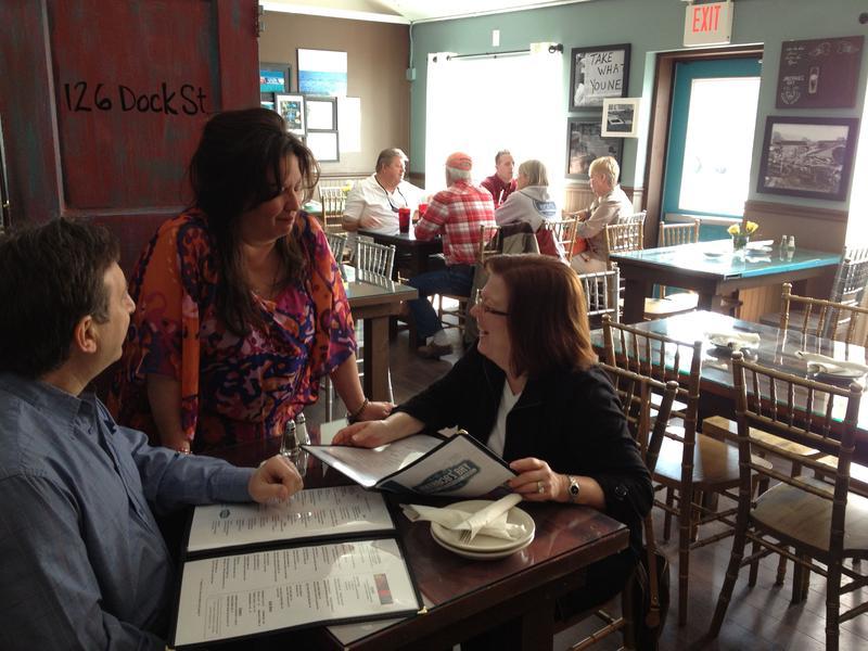 Gigi Liaguno-Dorr, owner of Jakeabob's Bay restaurant in Union Beach, New Jersey